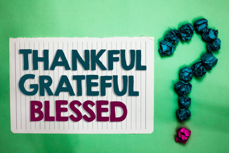 Gratitude for our health